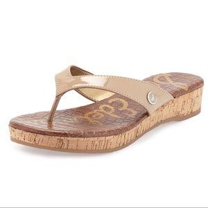 Sam Edelman Tanya Platform Thong Sandal Nude 6.5